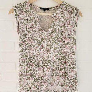 Gap Sleeveless Floral Shirt XS